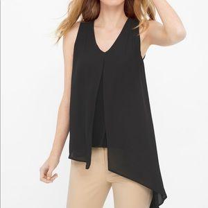 White House Black Market woven overlay tunic top
